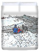 What Fascinates Children And Dogs -  Snow Day - Winter Duvet Cover