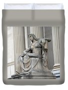 What Is Past Is Prologue Statue At National Archives -- 2 Duvet Cover