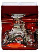 What Is Under The Hood-red Customized Retro Pontiac Duvet Cover