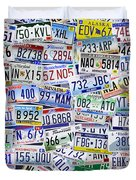 What's Your License? Duvet Cover by Bedros Awak