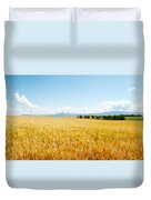 Wheat Field Near D8, Brunet, Plateau De Duvet Cover