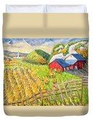 Wheat Harvest Kamouraska Quebec Duvet Cover by Patricia Eyre