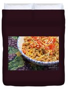 Wheat Pasta Goulash Duvet Cover by Andee Design