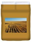 Wheat Rows Duvet Cover