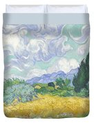 Wheatfield With Cypresses Duvet Cover