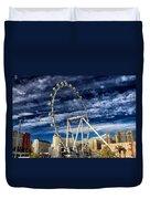 Wheel In The Sky Las Vegas Duvet Cover