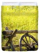 Wheel On Fence Duvet Cover