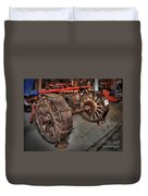 Wheels Of Old Steam Wagon Duvet Cover