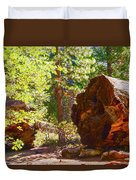 When Giants Fall Duvet Cover by Barbara Snyder