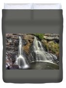 When Light And Water Falls-1a Blackwater Falls State Park Wv Autumn Mid-morning Duvet Cover