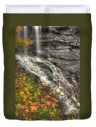When Light And Water Falls-5a Blackwater Falls State Park Wv Autumn Mid-morning Duvet Cover