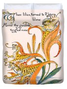 When Lilies Turned To Tiger Blaze Duvet Cover by Walter Crane