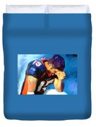 When Tebow Was A Bronco Duvet Cover