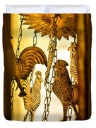 When The Rooster Crows Duvet Cover