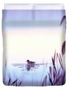 When The Sky Melts With Water A Peaceful Pond Duvet Cover