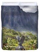 Where Eagles Fly Duvet Cover by Douglas Barnard