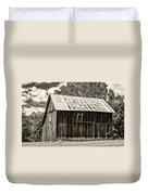 Where March Madness Begins Sepia 2 Duvet Cover