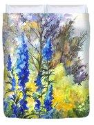 Where The Delphinium Blooms Duvet Cover