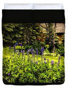 Where The Lupines Grow Duvet Cover