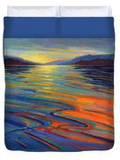 Where The Whales Play 8 Duvet Cover