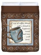 Whimsical Coffee 2 Duvet Cover by Debbie DeWitt