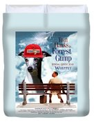 Whippet Art - Forrest Gump Movie Poster Duvet Cover