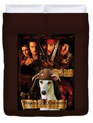 Whippet Art - Pirates Of The Caribbean The Curse Of The Black Pearl Movie Poster Duvet Cover