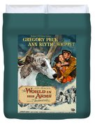 Whippet Art - The World In His Arms Movie Poster Duvet Cover