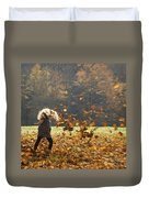 Whirling With Leaves Duvet Cover