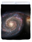 Whirlpool Galaxy 2 Duvet Cover by Jennifer Rondinelli Reilly - Fine Art Photography
