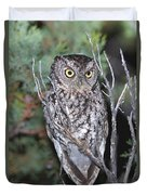 Whiskered Screech Owl Duvet Cover