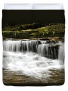 Whispering Waterfall Landscape Duvet Cover