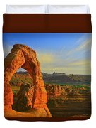 Whispy Clouds Over Delicate Arch Duvet Cover