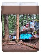 Whistler Train Wreckage Among The Trees Duvet Cover