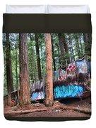 Whistler Train Wreckage In The Trees Duvet Cover