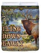 Whistling Meadows Elk Duvet Cover by JQ Licensing