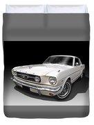 White 1966 Mustang Duvet Cover