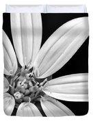 White And Black Flower Close Up Duvet Cover