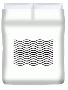 White And Black Postage Duvet Cover