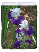 White And Blue Iris Stalks At Boyce Thompson Arboretum Duvet Cover