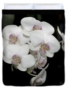 White And Pale Pink Phalaenopsis   9920 Duvet Cover