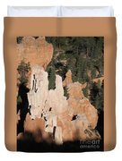 White And Red Rocks Of Bryce Np Duvet Cover