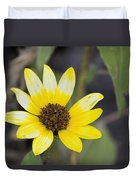 White And Yellow Sunflower Duvet Cover