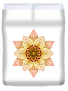 Asiatic Lily II Flower Mandala White Duvet Cover