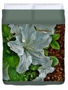 White Azalea Duvet Cover