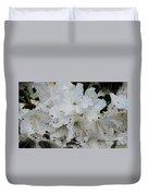 White Azaleas In Bermuda Duvet Cover
