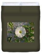 White Beach Flower Duvet Cover