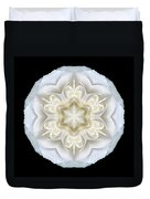 White Begonia II Flower Mandala Duvet Cover by David J Bookbinder