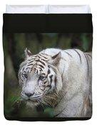White Bengal Tiger Duvet Cover