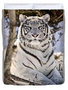 White Bengal Tiger, Forestry Farm Duvet Cover
